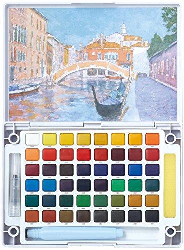 サクラクレパス絵の具固形水彩プチカラー48色NCW-48H