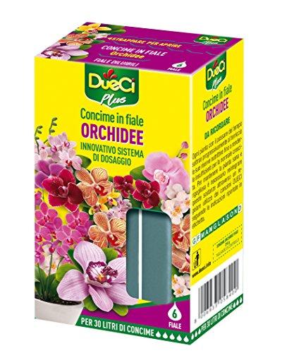 DueCi Concime Orchidee in Fiale, Giallo, 25.50x23.50x15.90 cm