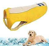 Mosucoirl Chaleco de enfriamiento para perros Abrigo de verano para perros, Enfriador de pantano para perros Chaqueta de abrigo de enfriamiento para perros transpirable Chaqueta para perros anti-calor