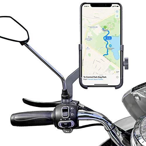 Homeet Supporto Telefono per Motocicletta Supporto del Smartphone Supporto da Mobile in Alluminio Girevole a 360 Gradi Sportivo per 4,7'a 6,8' Telefono e GPS