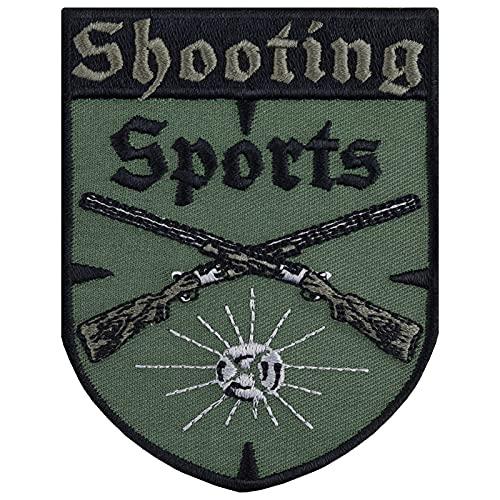 Parche protector deportivo para coser o planchar de Shooting Sports, ideal como regalo para guardarropas, para chalecos, chaquetas y sombreros de 70 x 90 mm