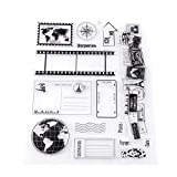 FTVOGUE Scrapbooking DIY Transparent Stamp Scrapbook Tarjetas fotográficas Postales 14x18cm Sello...