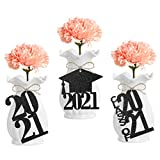 What you will get: 24pcs black glitter graduation favor tags,perfect for 2021 graduation party decorations,worth buying it !! Graduation Decorations: Unique design,perfect for graduation favor tags,graduation party decorations,grad party decor,high s...