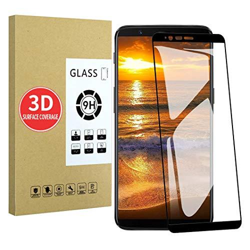 X-Dision Pellicola Salvaschermo Compatibile con OnePlus 5T [Nero], [Alta Definizione] [Risposta sensibile], Vetro Temperato 3D, [Installazione Senza Bolle] [Resistente ai Graffi]