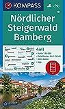 KOMPASS Wanderkarte Nördlicher Steigerwald, Bamberg: 4in1 Wanderkarte 1:50000 mit Aktiv Guide und Detailkarten inklusive Karte zur offline Verwendung in der KOMPASS-App. Fahrradfahren.