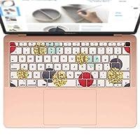 igsticker MacBook Air 13inch 2018 専用 キーボード用スキンシール キートップ ステッカー A1932 Apple マックブック エア ノートパソコン アクセサリー 保護 014258 模様 カラフル
