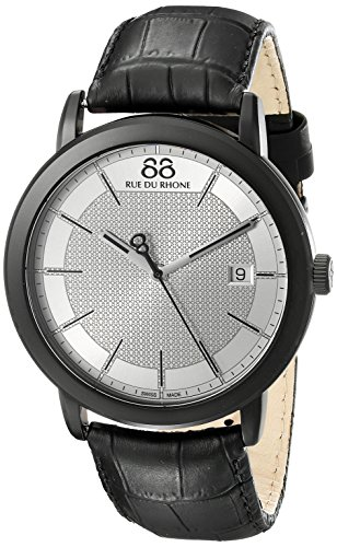 88Rue du Rhone uomo doppio 8origine 45mm nero orologio al quarzo...