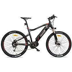 AGOGS MTB Max 27,5 inch electric bike mountain bike 48 cm aluminum frame Bafang mid-engine 250W 36V 470Wh Samsung battery Shimano Deore 9 gearshifting hydraulic disc brakes E-MTB e-bike pedelec