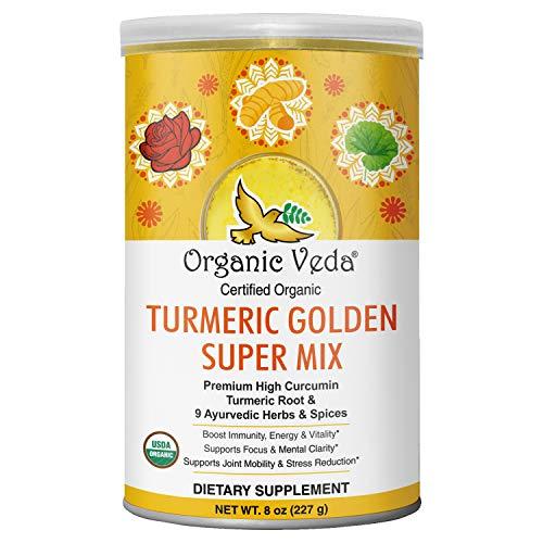 Organic Veda Turmeric Golden Super Milk Latte Mix - USDA Organic...