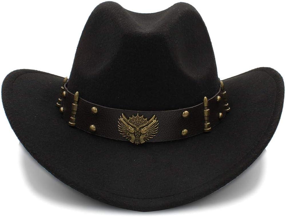 Beauty products Women's Men's Unisex's Vintage Wool Brim Felt Wide Cowboy Bowler Cheap mail order shopping