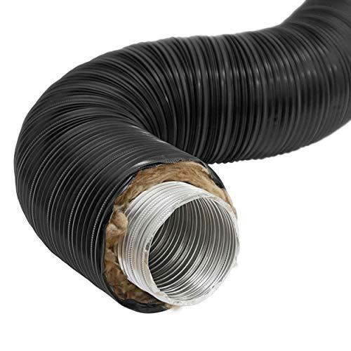 raik SH100-TFX-sw Therm Flex Aluflexrohr isoliert schwarz Ø 100 mm Länge 0,75 m, für Außenluft-Anschluss