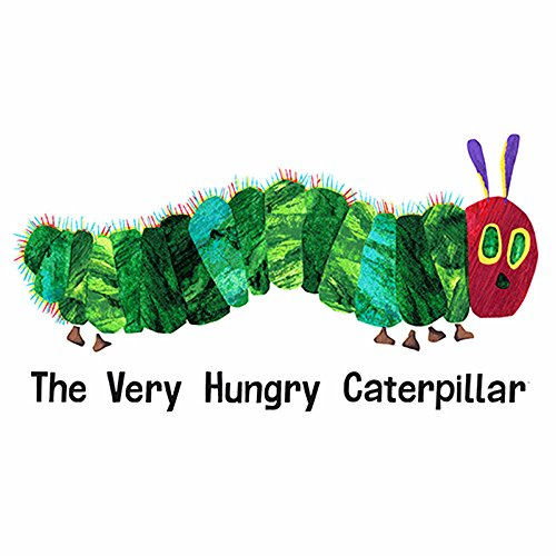 Andover The Very Hungry Caterpillar Giant 23 in. Panel White Fabric