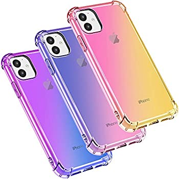 3-Pack Ubesty 6.1 Inch Shock Absorption TPU Case for Apple iPhone 11