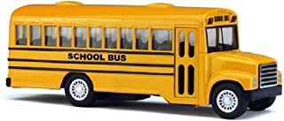 """Rhode Island Novelty, 5"""" Die Cast Long-Nose School Bus with Pull-Back Action"""