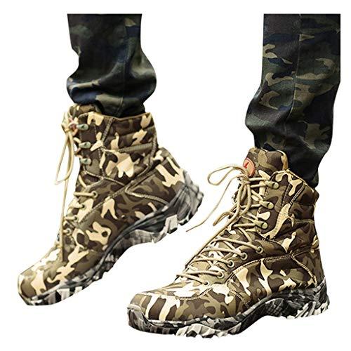 SUGEER Stiefel Herren Wanderstiefel Tactical Kampfstiefel Outdoor Military Boots Männer Schuhe zum Wandern, Jagen, Arbeiten, Armee Training, Combat Camouflage Schuhe Taktisch Outdoor Sports