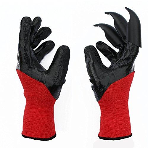 Leeken red Garden Genie Gloves with Fingertips Uniex Right 3 Claws
