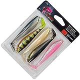 Fox Rage Zander Pro mixed UV Colour Pack - 5 Gummifische, Länge:10cm