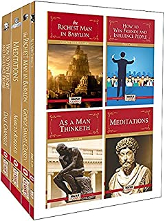 Worlds Best Books For Personal Growth and Motivation (Set of 4 Books) - The Richest Man in Babylon, Meditations, How to Wi...