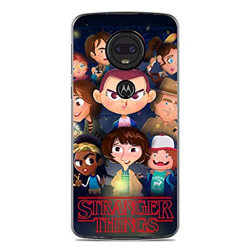 A-Legend Ultra Thin Coque Lightweight Anti-Skid Clear Soft Flexible Gel TPU Case Cover For Moto G7-Stranger-Things Eleven Joyce 7