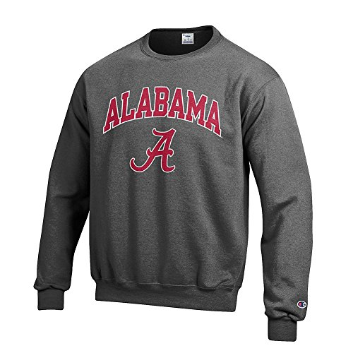 Elite Fan Shop Alabama Crimson Tide Crewneck Sweatshirt Varsity Charcoal - M