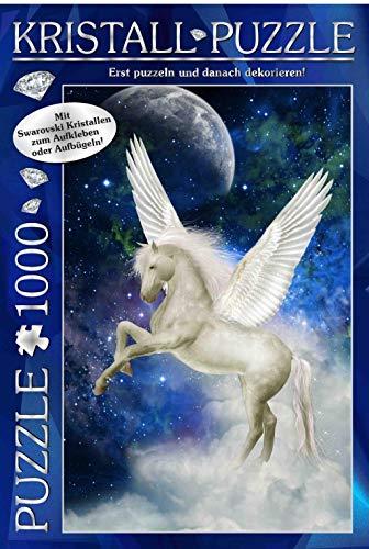 M.I.C. Swarovski Kristall Puzzle Motiv: Mythos Pegasus. 1000 Teile Puzzle