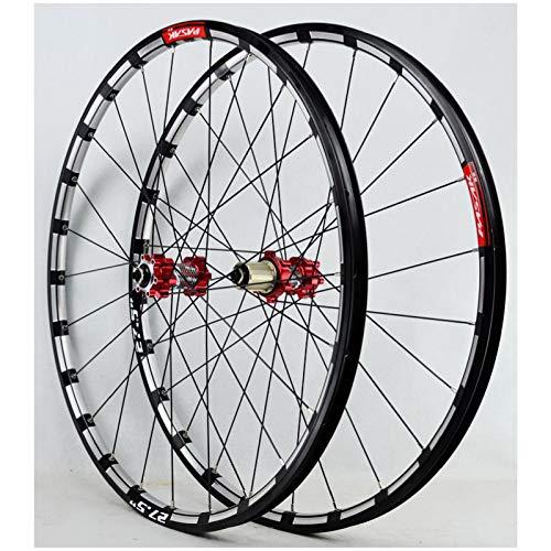 VPPV Ruedas de Bicicleta MTB 26 Pulgadas 27,5' Pared Doble Aleación Aluminio Freno Disco Seis Clavos Ruedas Ciclismo Llanta para 7 8/9/10/11 Speed (Size : 26 Inch)