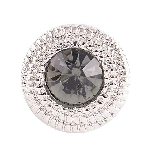 My Prime Regalos Intercambiables Mini 12 mm Snap Joyas Negro Diamantes de imitación y Puntos elevados