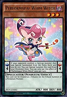 2016 Yu-Gi-Oh Invasion Vengeance First Edition #INOVEN002 Performapal Whim Witch R