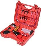 Uooker Kit Sangrador de Frenos, Probador de Bomba de Vacío de Mano con Adaptadores,Juego de Herramientas de Purga de Líquido de Frenos para Automóvil/Camión/Motocicleta