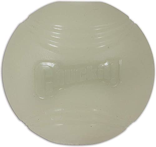 Chuckit! Max Glow Ball, Glow White, Medium 2.5""