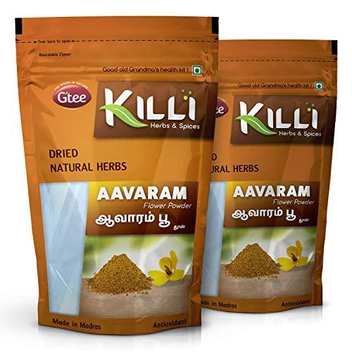 KILLI Avarampoo   Tarwar   Aavaram   Senna auriculata   Tangedu Flower Powder, 100g (Pack of 2)