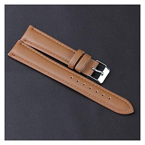 LINMAN Reloj Correa 18mm 24mm para Reloj de Pulsera Hombre de Cuero Hecho a Mano para Hombres y Mujeres Accesorios Banda (tamaño : 18MM Brown)