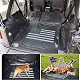 Pet Dog Hammock Style Cargo Cover & Liner For Jeep Wrangler JK JKU – PVC & 600D Oxford, Quilted Waterproof Machine Washable & Nonslip Backing , Seat & Cargo Protection