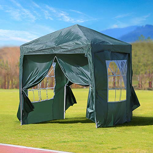 CLIPOP 3x3m Pop Up Gazebo Outdoor Waterproof Canopy Marquee Tent with 4 Side Panels and Carry Bag, Heavy Duty Instant Shelter Gazebo for Wedding Outdoor Camping Beach
