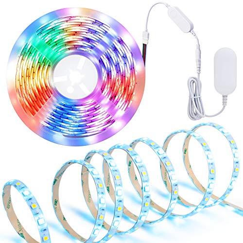 MOCREO - Tira de luz LED WiFi RGBW TV retroiluminada de 16,4 F para 24-75 pulgadas Smart TV retroiluminada, controlado por aplicaciones, 300 LED, impermeable IP65, 2,4 G Hz solo...