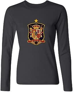 XIULUAN Women's Spanish National Men's Football Team Logo Long Sleeve T-shirt