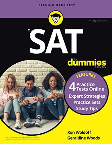 SAT For Dummies: Book + 4 Practice Tests Online
