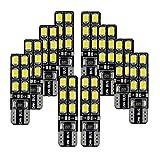 FEZZ 10pcs CANBUS Ampoules LED T10 2835 12SMD Feux de Position Plaque Lampe Lecture Auto Voiture Intérieur Blanc