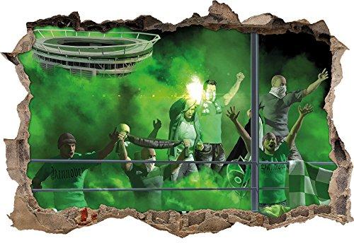 Ultras Hannover, 3D Wandsticker Format: 62x42cm, Wanddekoration