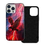 Tecbillion iPhone 12/12Pro Lightning Adler Hülle fühlt sich angenehm an TPU Soft Shell Gehärtetes Glas Shell Hülle