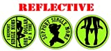(x3) Reflective Hard Hat Stickers I Love Guns and Titties, I Support Single Moms   Sexy Babe Motorcycle Welding Helmet Welder Decals, Funny Labels Badges Toolbox Laborer Construction Trucker (Green)