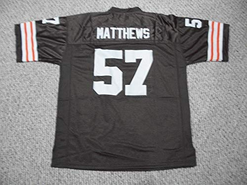 Unsigned Clay Matthews Jr. #57 Cleveland Custom Stitched Brown Football Jersey Various Sizes New No Brands/Logos Size Medium