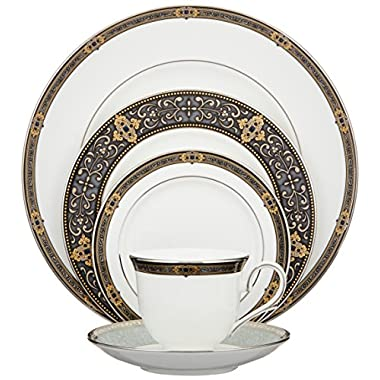 Lenox Unisex Vintage Jewel 5 Piece Boxed Set White Dinnerware