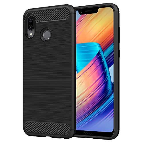 Anjoo Hülle Kompatibel mit Huawei Honor Play, Carbon Fiber Texture-Inner Shock Resistant-Weich & Flexibel TPU Cover Case Kompatibel mit Huawei Honor Play (6,3 Zoll), Schwarz