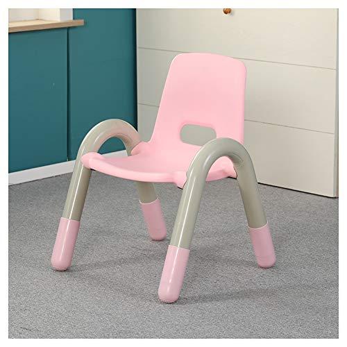 CHAXIA Chaise for Enfants Jardin d'enfants Chaise Arrière Bébé avec Accoudoirs Petite Chaise Empilable, 6 Couleurs en Option (Color : Pink, Size : 41x38x54cm)