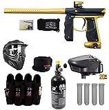 Maddog Empire Mini GS Tournament Elite Paintball Gun Package B - Dust Black/Gold