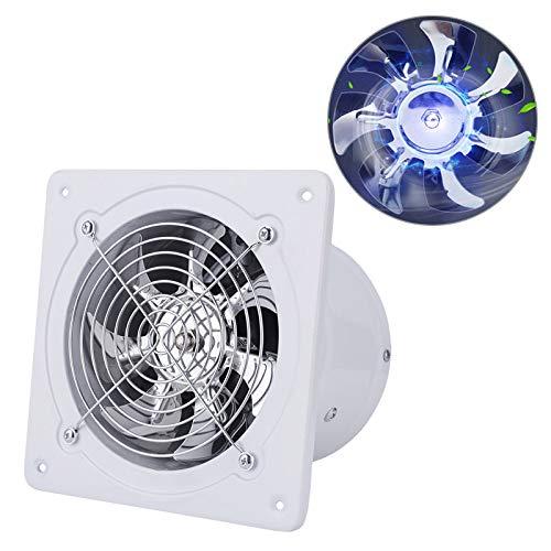 40W Ventilador de escape montado en la pared Extractor de bajo ruido Ventilador Ventilador Ventilador de flujo de escape axial para Baño Cocina Garaje, 6 pulgadas (Blanco)