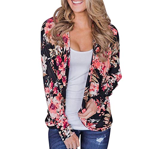 Sale!! NANTE Top Loose Women's Blouse Floral Print Cardigan Long Sleeve Shawl Cover Up Tops Womens C...