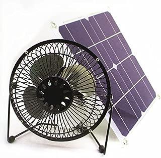 solar fan 10w 6 inch Fan Powered Ventilation Caravan Camping Home Office Outdoor Traveling Fishing by Solar Fan