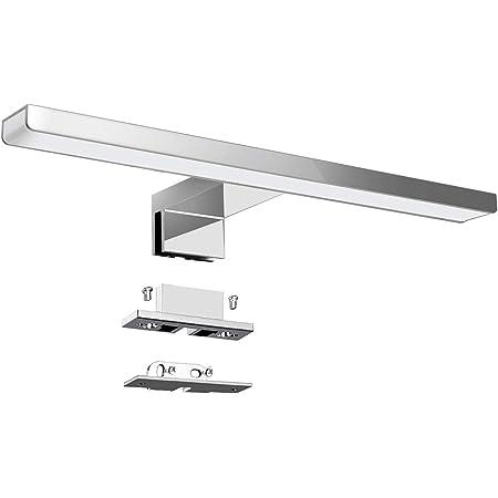 KINGSO Lampe pour Miroir LED Salle de Bains IP44 6W 600lm Lampe Armoire Miroir Applique Murale Intérieure Moderne Luminaire Salle de Bain 4000K Blanc Neutre AC230V 300x30x12mm